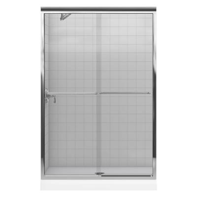 KOHLER Fluence 43 in. W x 70 in. H Semi-Framed Bypass Shower Door in Bright Polished Silver