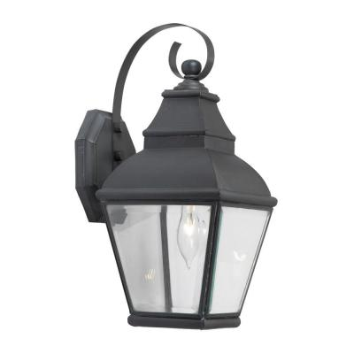 Titan Lighting Bristol 1-Light Wall Mount Outdoor Charcoal Sconce