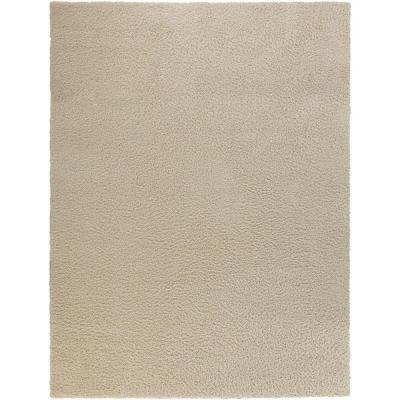 Shag Cream 7 ft. 10 in. x 9 ft. 10 in. Area Rug Product Photo