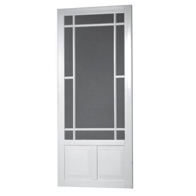 Prairie View Solid Vinyl White Screen Door