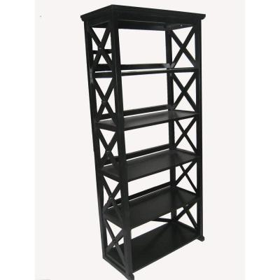 Home Decorators Collection Brexley Black 5 Shelf Bookcase Discontinued Bcs 570 At The Home Depot