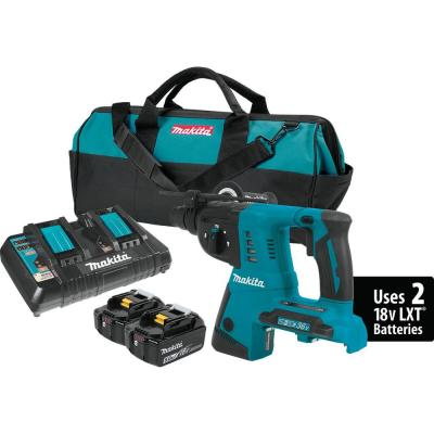Makita 18-Volt 5.0Ah X2 LXT Lithium-Ion Cordless 1 in. Rotary Hammer Kit