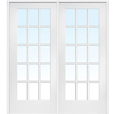 Classic Clear Glass 15 Lite Composite Double Interior