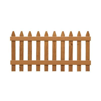 null 3 ft. H x 6 ft. W Pressure-Treated Cedar-Tone Moulded Fence Kit