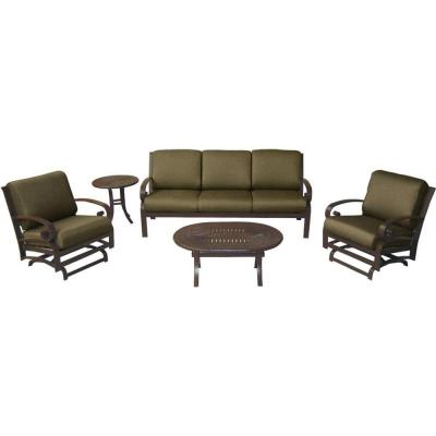 Tradewinds Valle Vista 5-Piece Canvas Cocoa and Java Patio Seating Set-DISCONTINUED