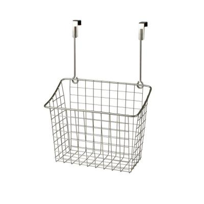 Spectrum Grid 10.125 in. W x 6.625 in. D x 14 in. H Over the Cabinet Large Basket in Satin Nickel Powder Coat
