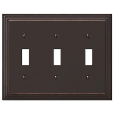 Steps 3 Toggle Wall Plate - Aged Bronze Product Photo