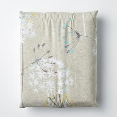 Summer Dandelion 300-Thread Count Organic Cotton Percale Fitted Sheet