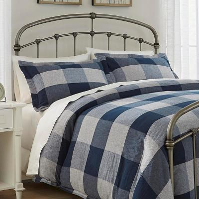 Ashdale 3-Piece Blue Plaid Duvet Cover Set