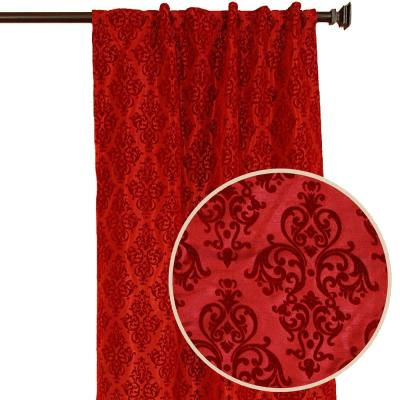 Home Decorators Collection Pari Chocolate Back Tab Curtain