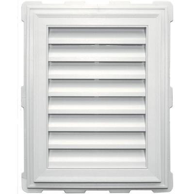 18 in. x 24 in. Classic Brickmold Gable Vent #123 White Product Photo