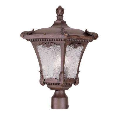 Filament Design Providence 3-Light 6 in. Outdoor Imperial Bronze Post Head Lantern