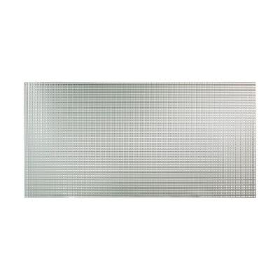 Fasade Square 96 in. x 48 in. Decorative Wall Panel in Brushed Aluminum