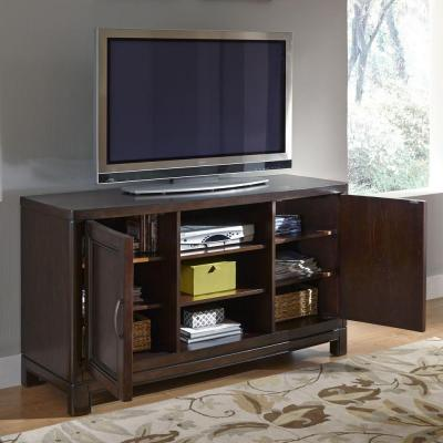 Home Styles Crescent Hill Tortoise Shell Storage Entertainment Center