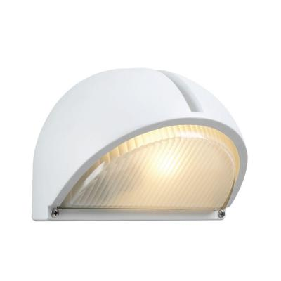 PLC Lighting 1-Light Outdoor White Wall Sconce with Frost Glass