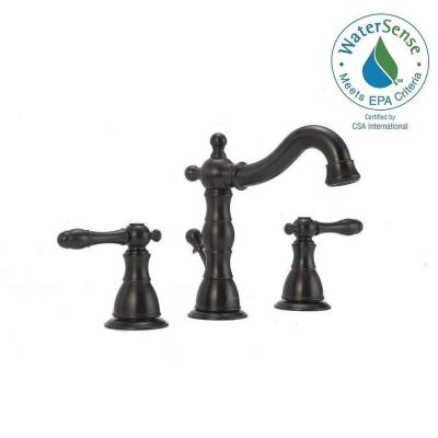 Lyndhurst 8 in. Widespread 2-Handle High-Arc Bathroom Faucet in Oil Rubbed