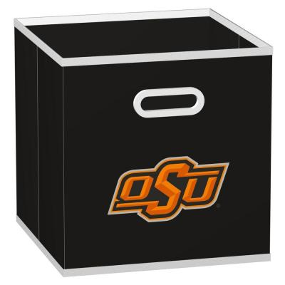MyOwnersBox College STOREITS Oklahoma State University 10-1/2 in. x 10-1/2 in. x 11 in. Black Fabric Storage Drawer
