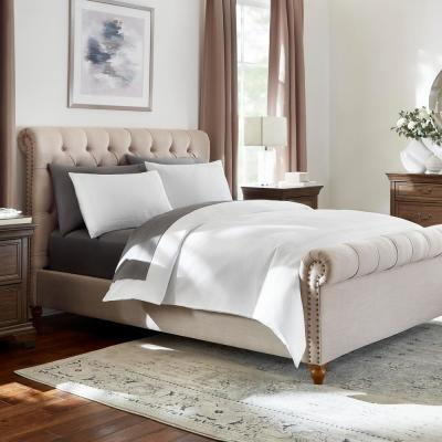 Kennedy 3-Piece White Embroidered Border Duvet Cover Set