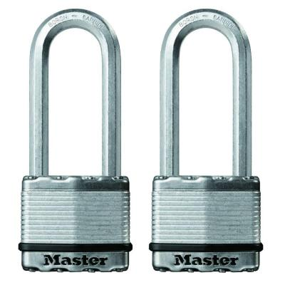 Magnum 2 in. Laminated Steel Padlock with 2-1/2 in. Shackle (2-Pack)