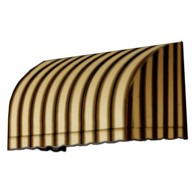 30 ft. Savannah Window/Entry Awning (44 in. H x 36 in. D) in Gray/Cream/Black Stripe Product Photo