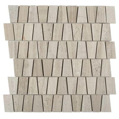 Artifact Wooden Beige 12 in. x 12 in. x 8 mm Marble Mosaic Tile Product Photo