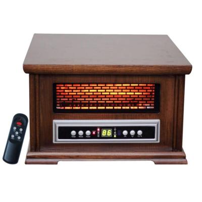 Lifesmart Low Profile 1500 Watt 800 sq. ft. Infared 3 Element Quartz Portable Heater with Wood Cabinet-DISCONTINUED