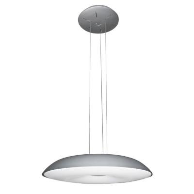 Alcyone Collection 23 in. Silver /Nickel LED Adjustable Hanging Modern Chandelier Product Photo