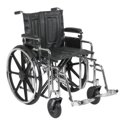 Sentra Extra Heavy Duty Wheelchair with Detachable Adjustable Desk Arms and