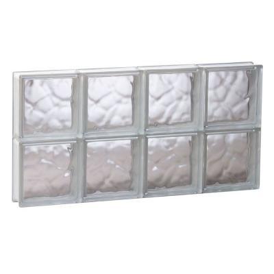 Frameless Wave Pattern Non-Vented Glass Block Window