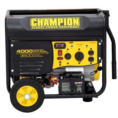 Champion Power Equipment 3,500/4,000-Watt Gasoline Powered Electric Start Portable Generator with Remote