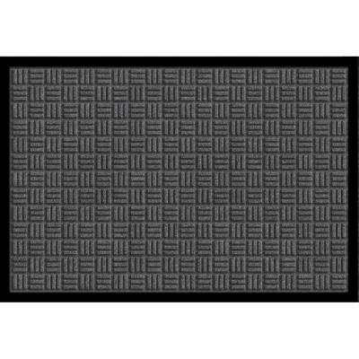 Gray 24 in. x 36 in. Synthetic Fiber Commercial Entry Mat