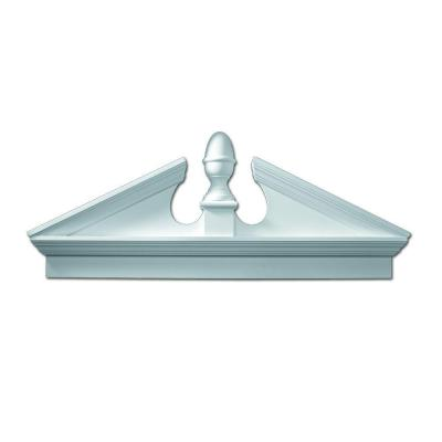67-1/2 in. x 25-1/8 in. x 3-1/8 in. Polyurethane Combination Acorn Pediment with Bottom Trim Product Photo
