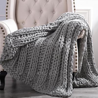 Chunky Knit Acrylic 50 in. x 60 in. Throw