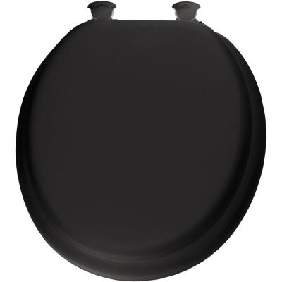 Mayfair Lift-Off Soft Round Closed Front Toilet Seat in Black