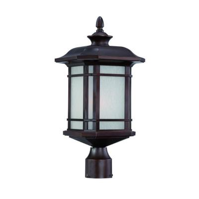 Acclaim Lighting Somerset Collection Post-Mount 1-Light Outdoor Architectural Bronze Light Fixture