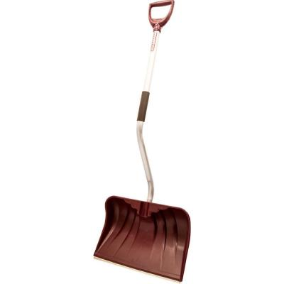 Rugg Manufacturing 20 in. Ergonomic Aluminum Poly Combo Blade Snow Shovel