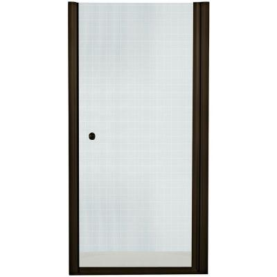 Finesse 32-3/4 in. x 65-1/2 in. Semi-Framed Pivot Shower Door in
