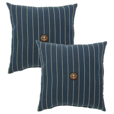 Midnight Stripe Outdoor Throw Pillow (2-Pack)