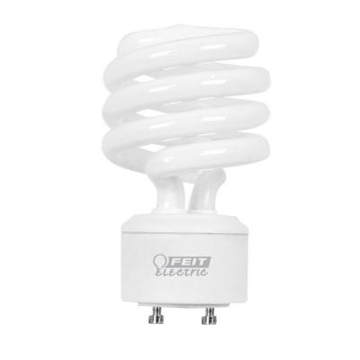 Feit Electric 75W Equivalent Soft White (2700K) Spiral GU24 CFL Light Bulb (12-Pack)