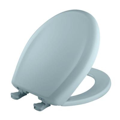 Slow Close STA-TITE Round Closed Front Toilet Seat in Heron Blue