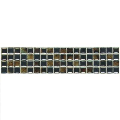 Daltile Fashion Accents Umber 3 in. x 12 in. Illumini Accent Mosaic Wall Tile
