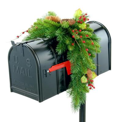 National Tree Company Classical Collection 3 ft. Mail Box Cover with Red Berries, Cones and Holly Leaves
