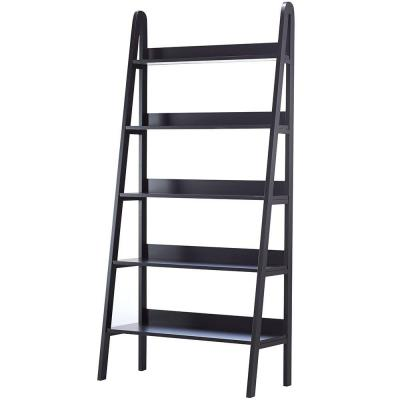 Home Decorators Collection Torrence 30 in. W 5-Shelf Ladder Bookshelf in Black