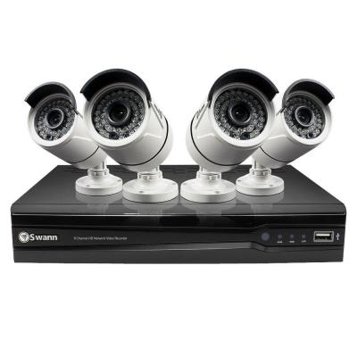 Swann 8-Channel 1280TVL 3MP Network Video Recorder and 4 x NHD-815 3MP Cameras