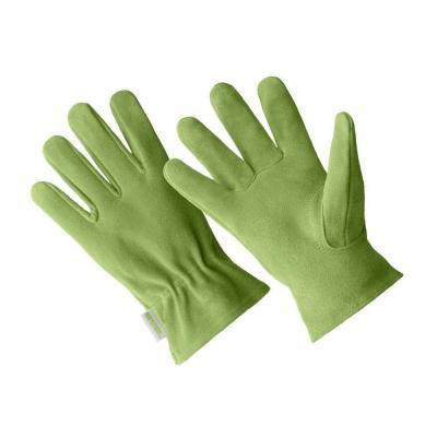 Ladies Premium Green Suede Driver Gloves