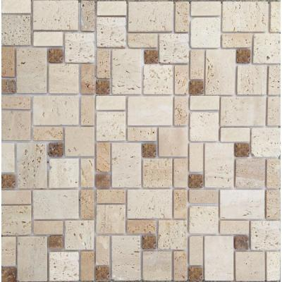 instant mosaic peel and stick natural stone 12 in x 12 in wall tile