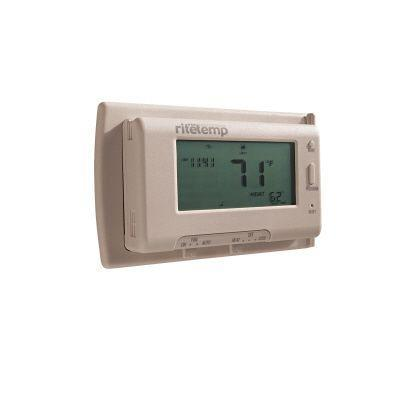 RiteTemp Off White, Large Horizontal Touch Screen Thermostat, 7 Day Programmable,compatible With Most Systems