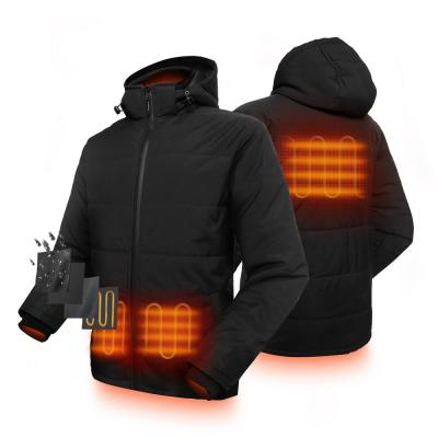 Men's Black 7.4-Volt Lithium-Ion Padded Heated Jacket with SMAWARM Insulation and One 5.2 Ah Battery Pack