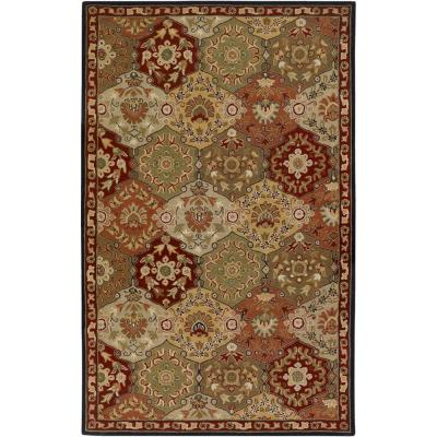 John Red 4 ft. x 6 ft. Area Rug