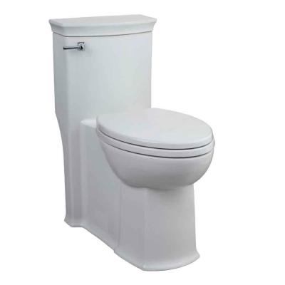 Porcher Chapeau 1-Piece 1.6 GPF Elongated Water Closet Toilet with Slow-Close Seat in White-DISCONTINUED